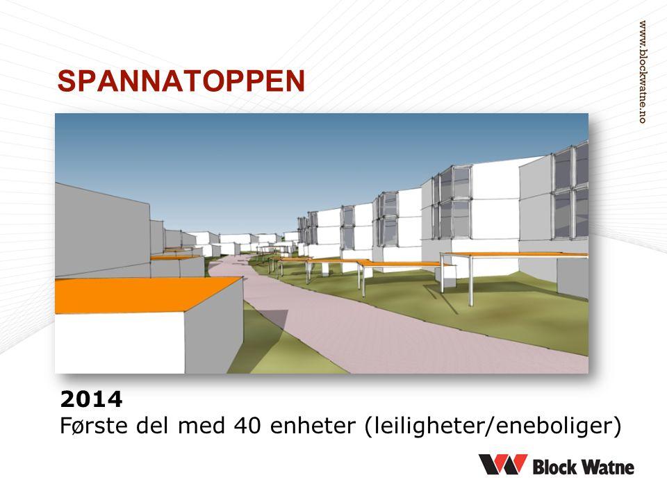 SPANNATOPPEN 2014 Første del med 40 enheter (leiligheter/eneboliger)