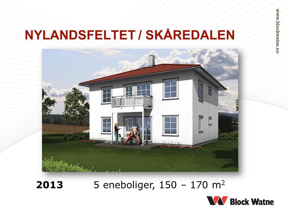 NYLANDSFELTET / SKÅREDALEN 2013 5 eneboliger, 150 – 170 m 2