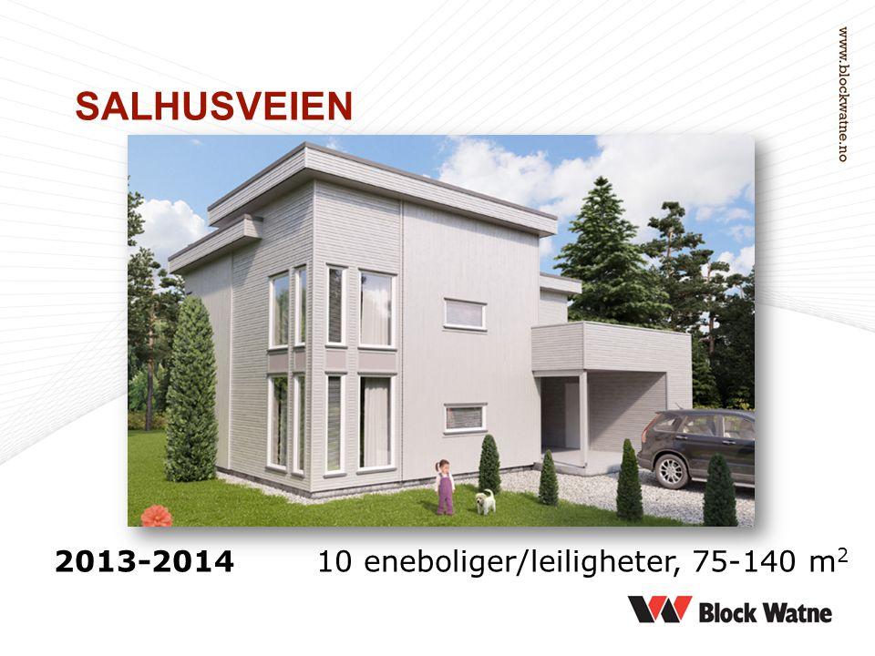 2013-2014 10 eneboliger/leiligheter, 75-140 m 2