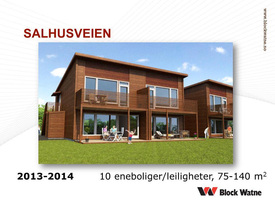 SALHUSVEIEN 2013-2014 10 eneboliger/leiligheter, 75-140 m 2