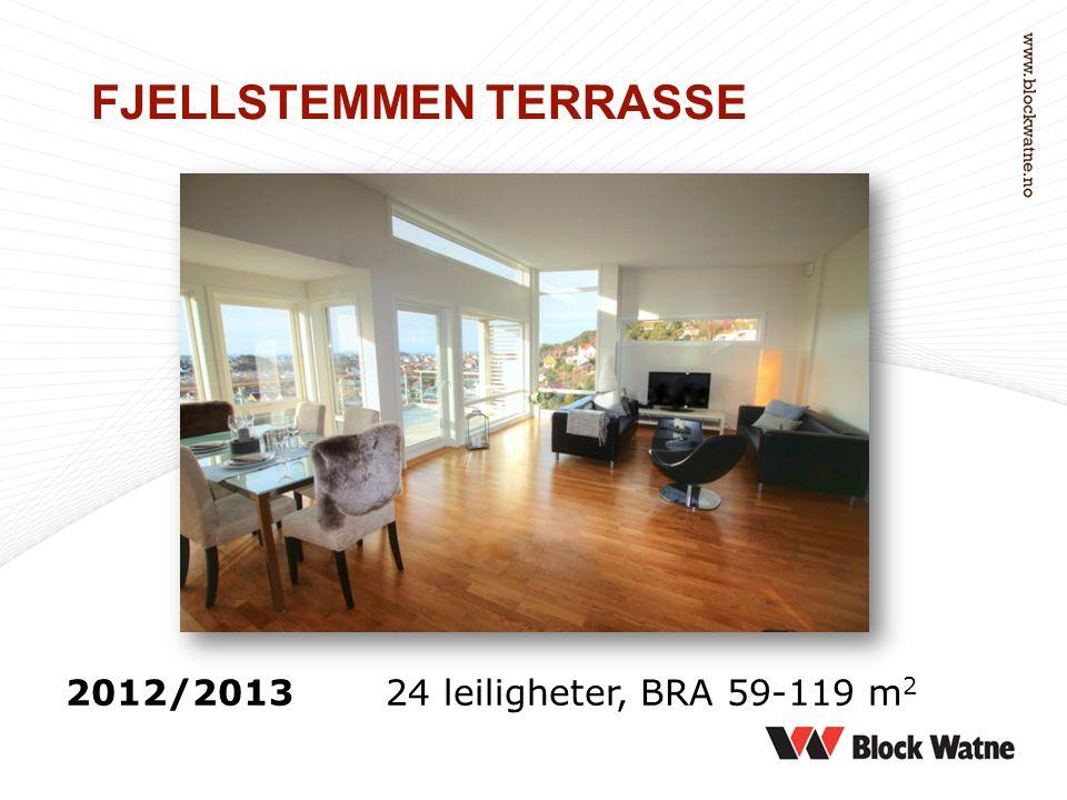 FJELLSTEMMEN TERRASSE 2012/201324 leiligheter, BRA 59-119 m 2