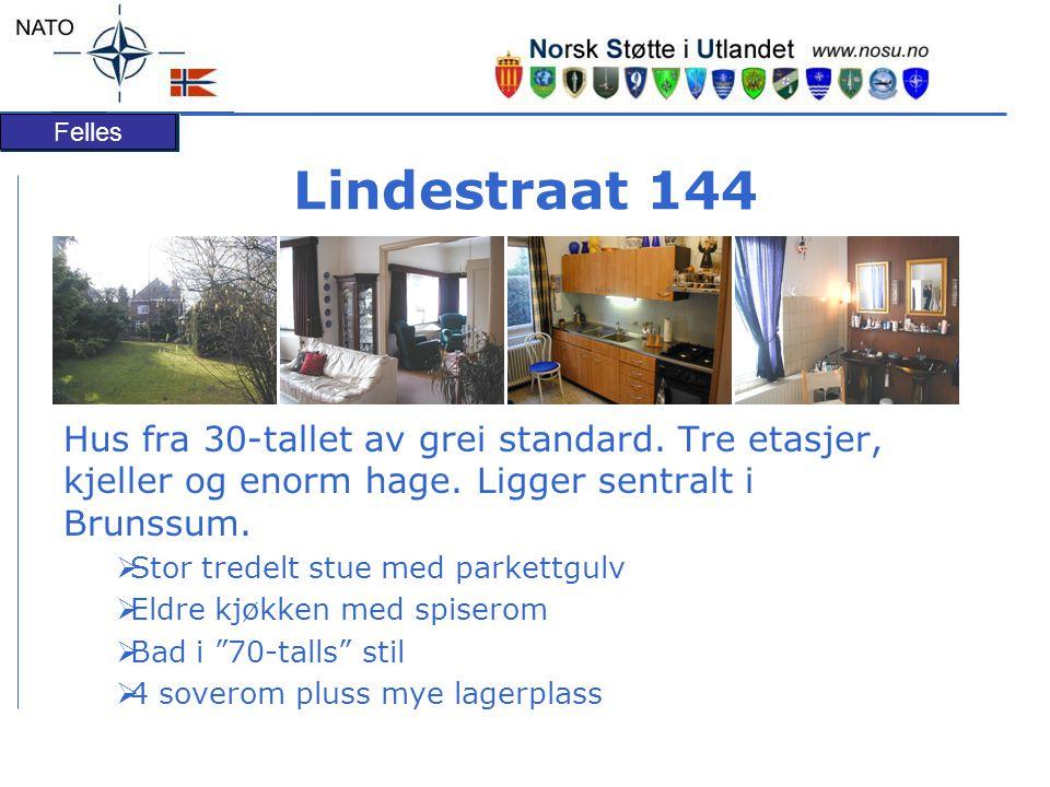 Felles Lindestraat 144 Hus fra 30-tallet av grei standard.