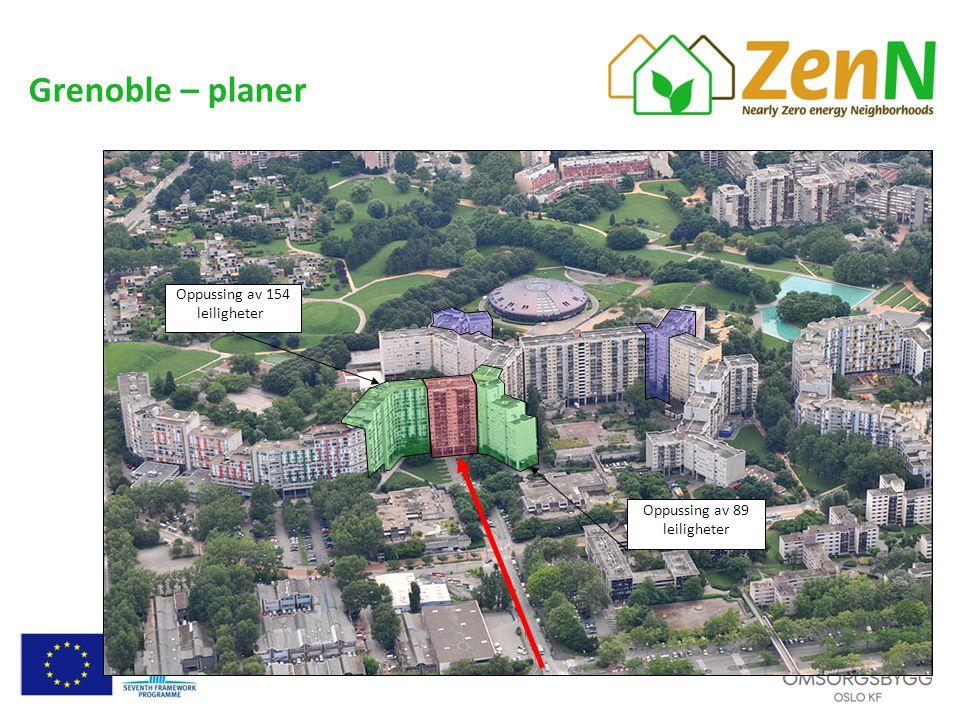 Grenoble – planer Oppussing av 154 leiligheter: Oppussing av 89 leiligheter