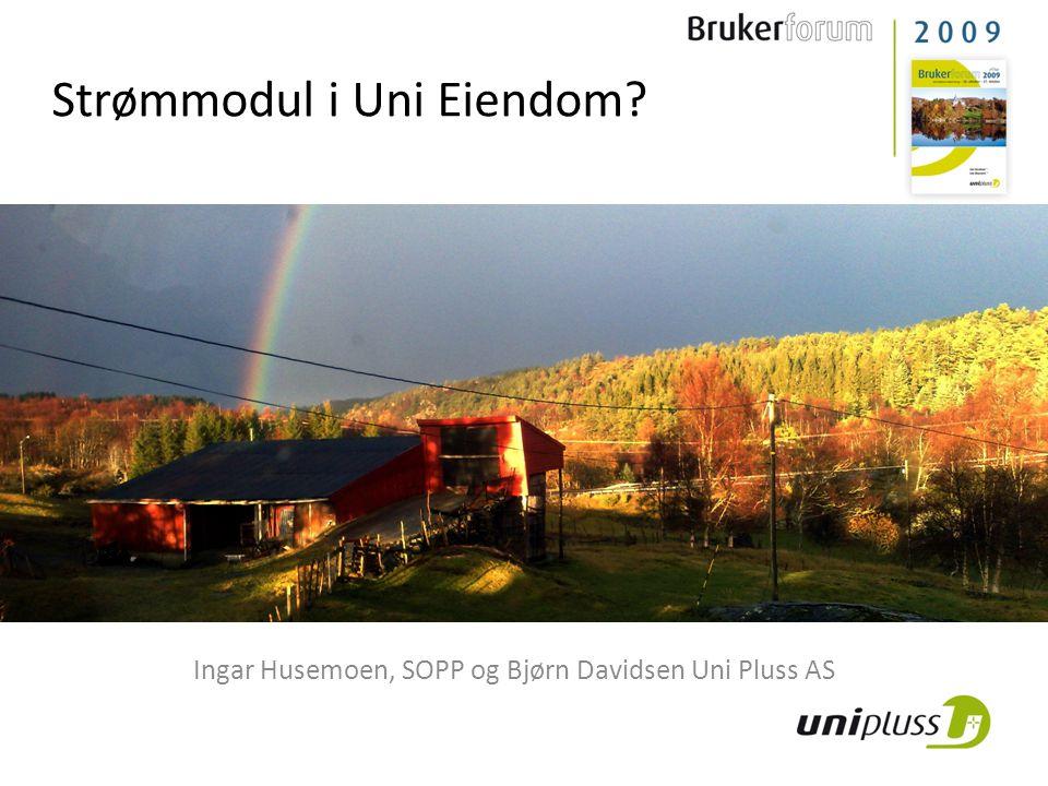 Strømmodul i Uni Eiendom? Ingar Husemoen, SOPP og Bjørn Davidsen Uni Pluss AS