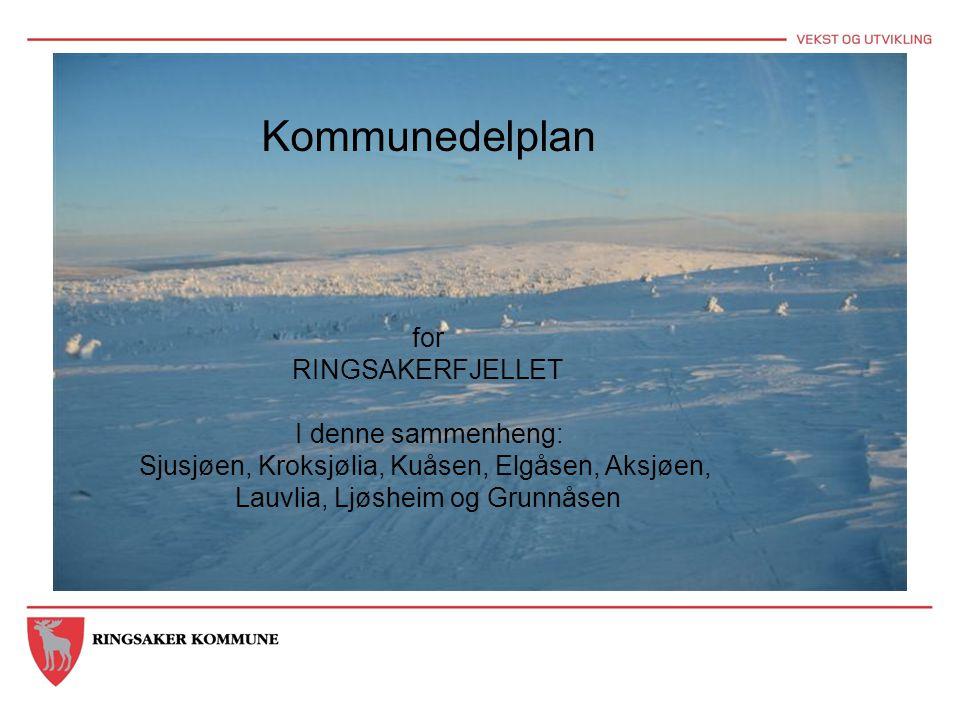 Kommunedelplan for RINGSAKERFJELLET I denne sammenheng: Sjusjøen, Kroksjølia, Kuåsen, Elgåsen, Aksjøen, Lauvlia, Ljøsheim og Grunnåsen