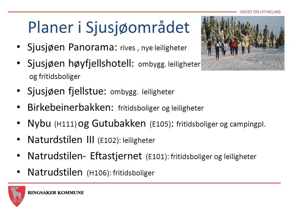 Planer i Sjusjøområdet • Sjusjøen Panorama: rives, nye leiligheter • Sjusjøen høyfjellshotell: ombygg. leiligheter og fritidsboliger • Sjusjøen fjells