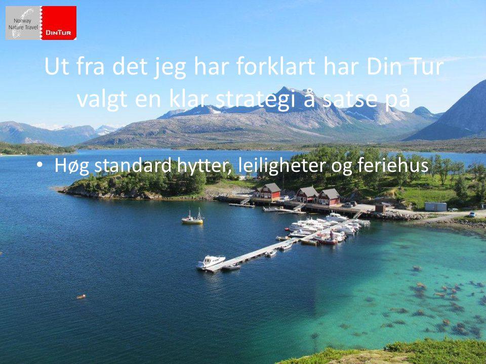 • Høg standard hytter, leiligheter og feriehus