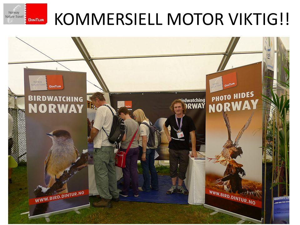 Norges spesielle fortrinn som vandredestinasjon i et internasjonalt marked er følgende KOMMERSIELL MOTOR VIKTIG!!