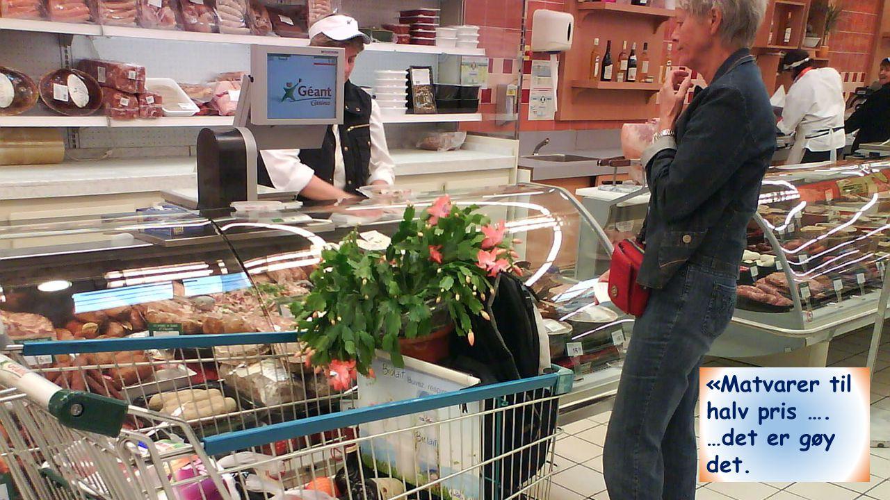 «Matvarer til halv pris …. …det er gøy det. 12