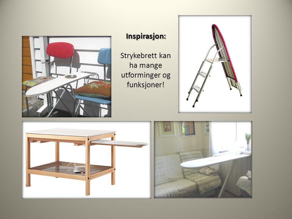 Inspirasjon: Inspirasjon: Strykebrett kan ha mange utforminger og funksjoner! 18