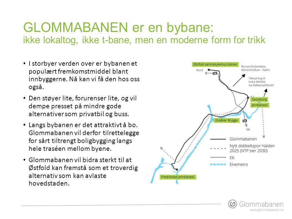 GLOMMABANEN er en bybane: ikke lokaltog, ikke t-bane, men en moderne form for trikk • I storbyer verden over er bybanen et populært fremkomstmiddel bl