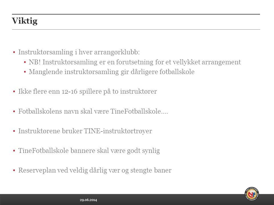 29.06.2014 Viktig • Instruktørsamling i hver arrangørklubb: • NB! Instruktørsamling er en forutsetning for et vellykket arrangement • Manglende instru