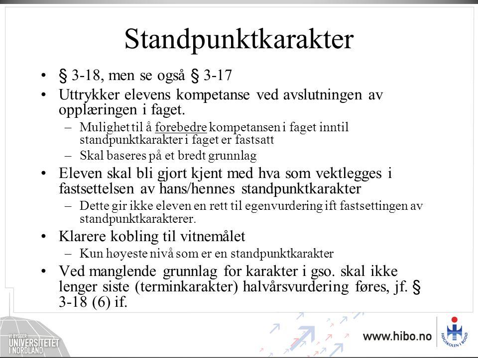 Et eksempel fra skolehverdagen •Til avsluttende prøve i faget norsk i ungdomsskolen 10.