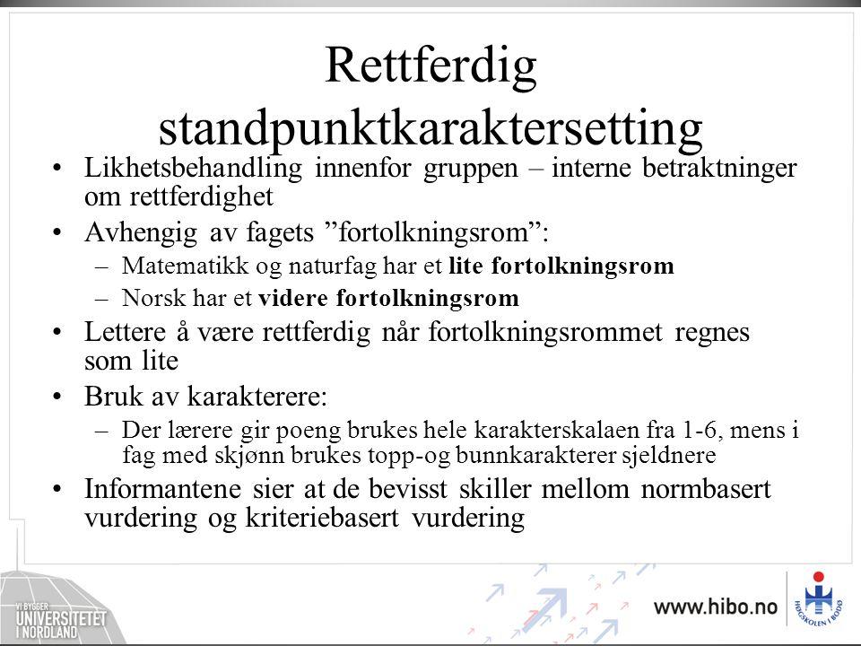 Kjennskap til sentrale dokumenter •Kjennskapet knyttes til Kunnskapsløftet som reform •Standpunktvurdering i gammel og ny reform.
