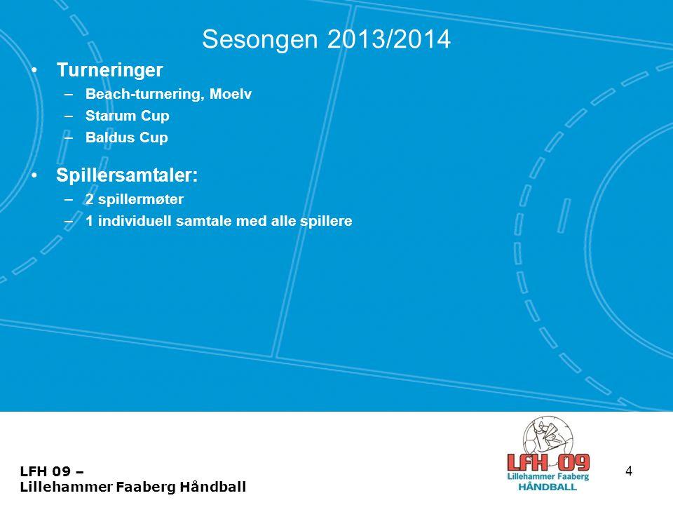Sesongen 2013/2014 •Turneringer –Beach-turnering, Moelv –Starum Cup –Baldus Cup •Spillersamtaler: –2 spillermøter –1 individuell samtale med alle spil