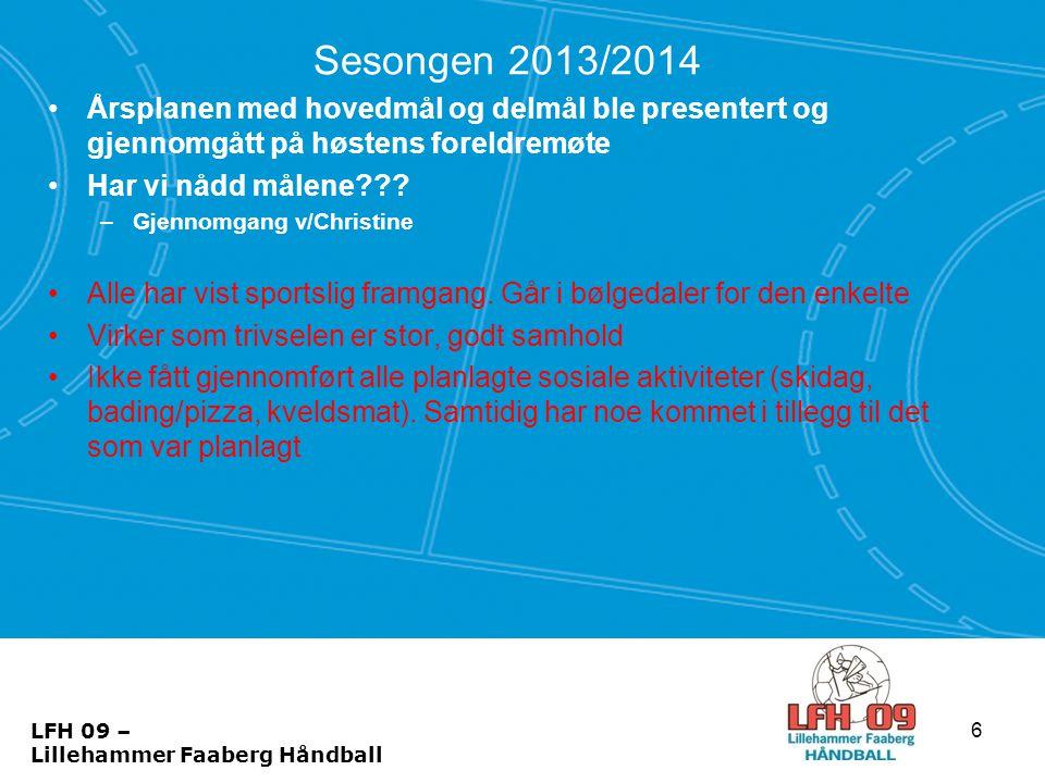Baldus Cup •Kampoppsett: –Lag 1: 1823 - 1843Håkon 3 fre28J12 1Buvik - LFH09 1 0902 - 0922Skogen lør360J12 1LFH09 1 - Meldal 1 1510 - 1530Håkon 3 lør179J12 1Hønefoss 2 - LFH09 –Lag 2: 1800 - 1820Kristin 1 fre40J12 2Frogner - LFH09 2 0839 - 0859Håkon 2 lør128J12 2LFH09 2 - Rapp 1 1315 - 1335Skogen lør371J12 2Hommelvik 1 - LFH09 2 •Kamper søndag (sluttspill) er avhengig av plassering •Alle får minimum 1 kamp i sluttspillet •Kamplengde: 1 x 20 17 LFH 09 – Lillehammer Faaberg Håndball