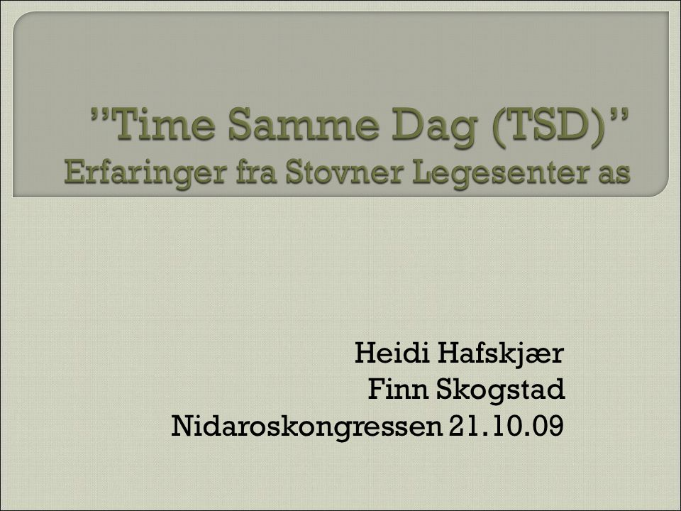 TSD - Stovner Legesenter as 32