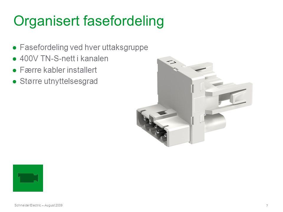 Schneider Electric 18 – August 2009 Uttaksposter Faste uttaksposter eller fleksibel løsning med gulvgjennomføring