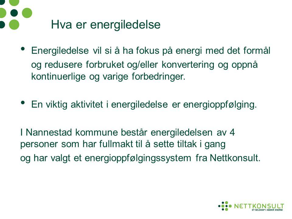 Hva er energiledelse • Energiledelse vil si å ha fokus på energi med det formål og redusere forbruket og/eller konvertering og oppnå kontinuerlige og