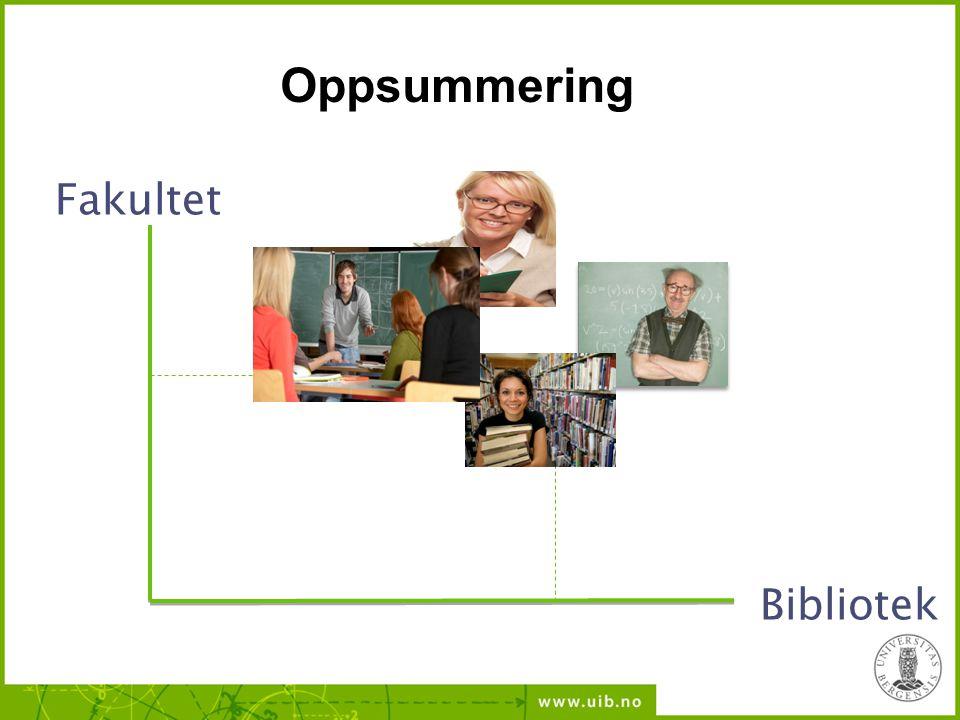 Fakultet Bibliotek Oppsummering