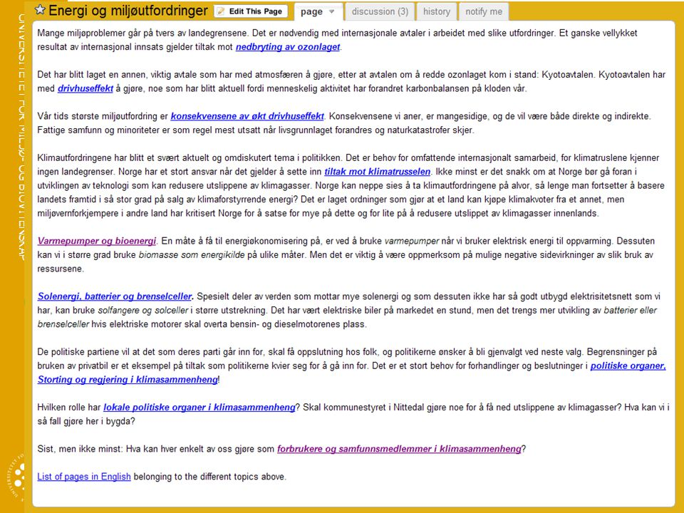 UNIVERSITETET FOR MILJØ- OG BIOVITENSKAP www.umb.no