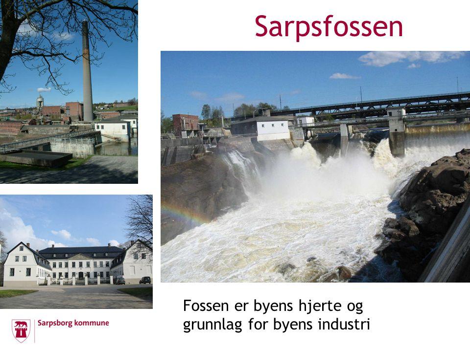 Sarpsfossen Fossen er byens hjerte og grunnlag for byens industri