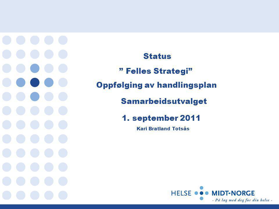Status Felles Strategi Oppfølging av handlingsplan Samarbeidsutvalget 1.