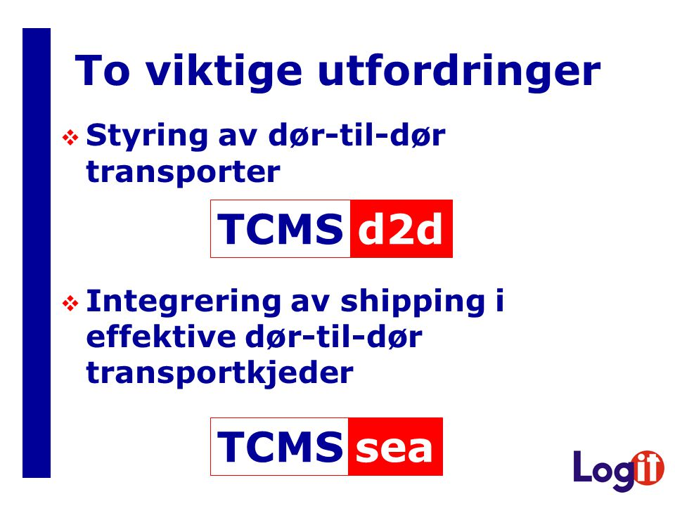 ProducerCustomer FTMS Provide transport status TCMS Organise and initiate transport Control transport Provide documents Visualise transport information Position or ETA information Unit, transport means or consignment identification Position data network