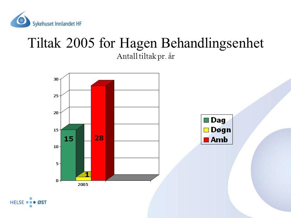 Tiltak 2005 for Hagen Behandlingsenhet Antall tiltak pr. år