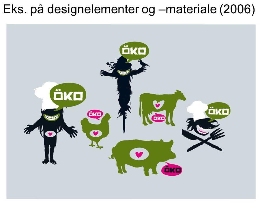 Eks. på designelementer og –materiale (2006)
