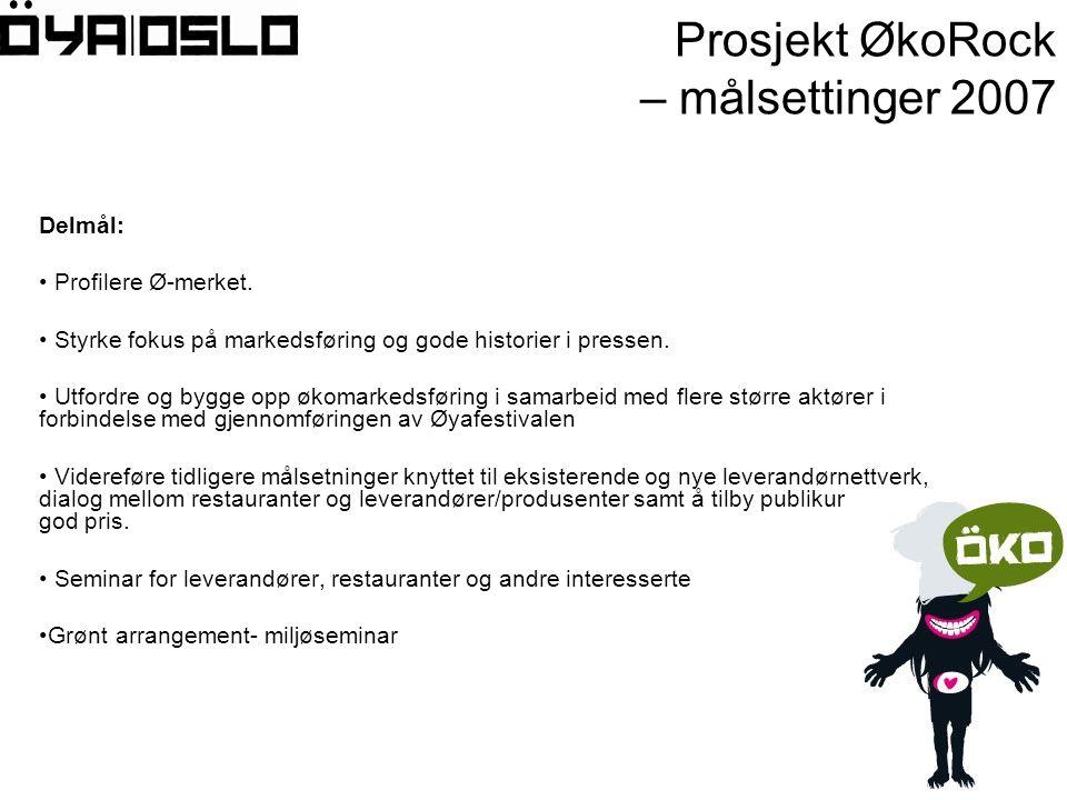 Delmål: • Profilere Ø-merket. • Styrke fokus på markedsføring og gode historier i pressen.