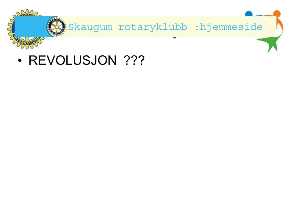 Hønefoss Rotary Klubb •REVOLUSJON ???