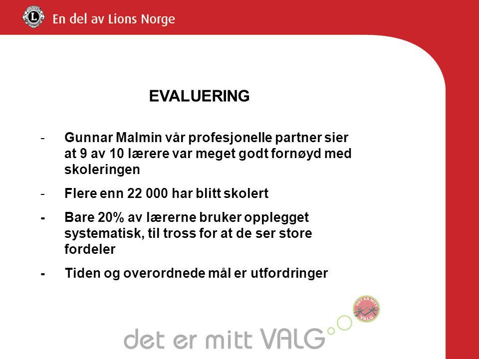 -Gunnar Malmin vår profesjonelle partner sier at 9 av 10 lærere var meget godt fornøyd med skoleringen -Flere enn 22 000 har blitt skolert -Bare 20% a