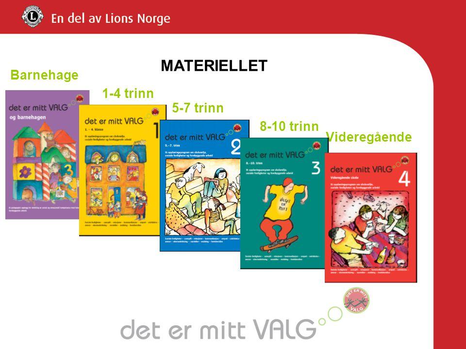 MATERIELLET 1-4 trinn 5-7 trinn 8-10 trinn Videregående Barnehage