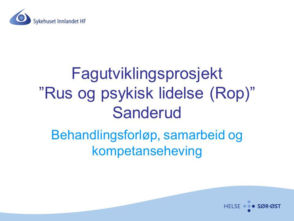 """Fagutviklingsprosjekt """"Rus og psykisk lidelse (Rop)"""" Sanderud Behandlingsforløp, samarbeid og kompetanseheving"""