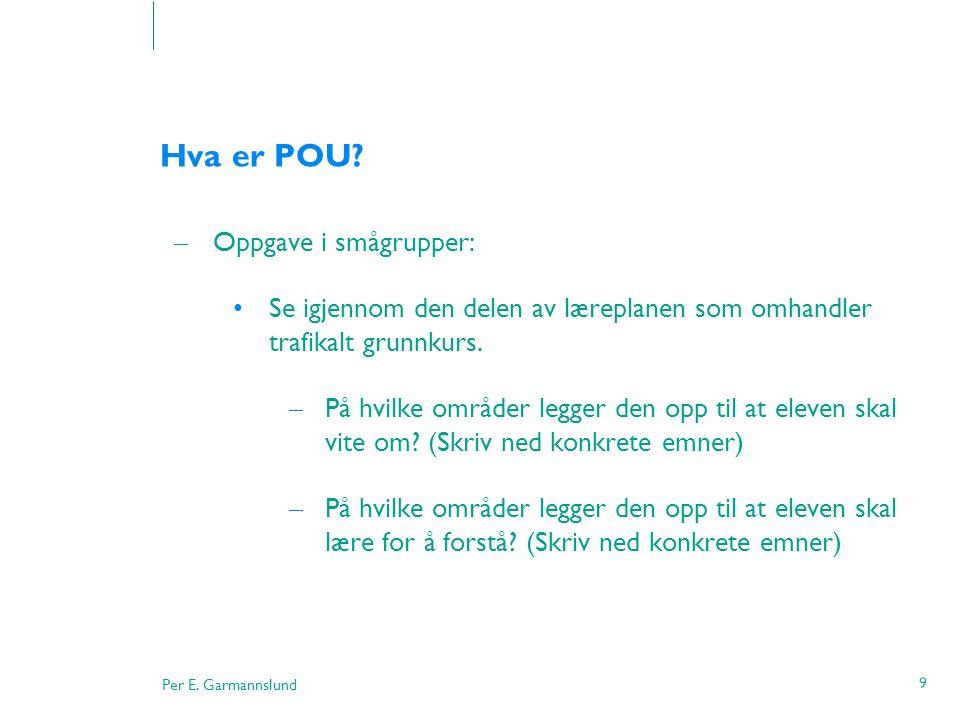 Per E.Garmannslund 50 Hvordan kommuniserer vi. • Communicare som betyr å gjøre noe felles .