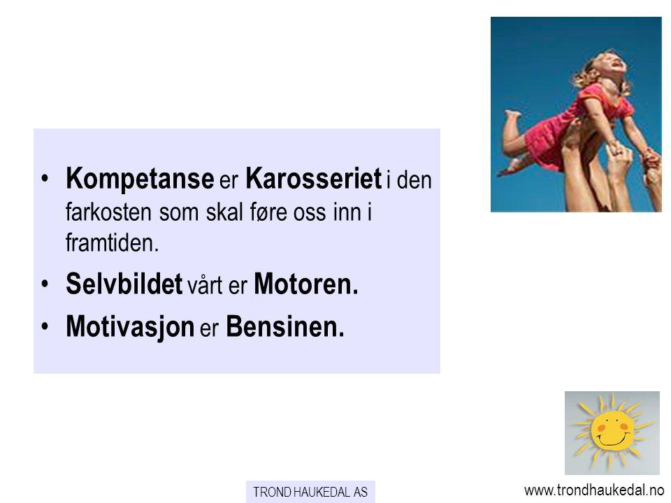 • Kompetanse er Karosseriet i den farkosten som skal føre oss inn i framtiden. • Selvbildet vårt er Motoren. • Motivasjon er Bensinen. www.trondhauked