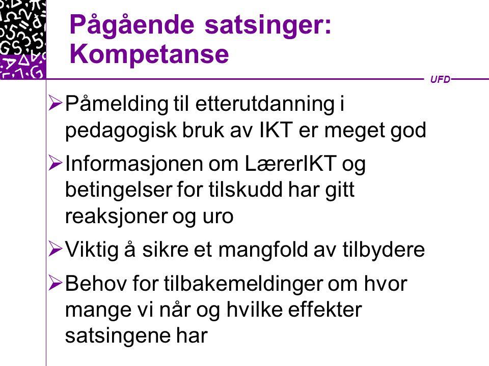 UFD Egen-evaluering sammenlignet med praktisk test 300350400450500550600 Jente/Gr.sk Gutt/Gr.sk Kvinne/Gr.sk Mann/Gr.sk Jente/Vg Gutt/Vg Kvinne/Vg Mann/Vg Test (s) Egen- evaluering (s)