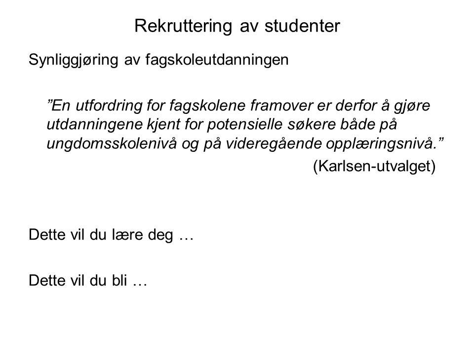 TID – PEDAGOGISK TILNÆRMING – BEVISSTGJØRING •Ved studiestart: gå igjennom og diskuter med studentene læringsutbyttebeskrivelsene for utdanningen.