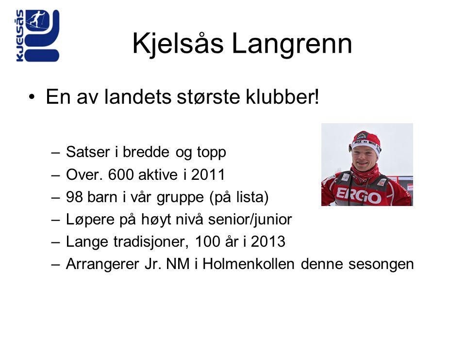 Kjelsås Langrenn •En av landets største klubber! –Satser i bredde og topp –Over. 600 aktive i 2011 –98 barn i vår gruppe (på lista) –Løpere på høyt ni