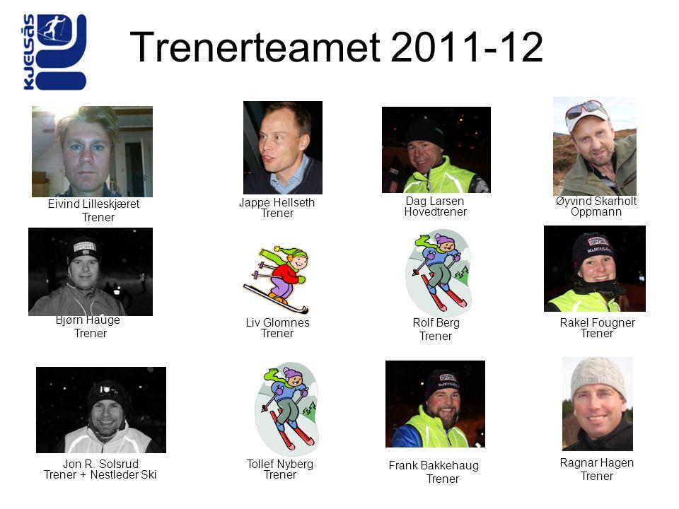 Øyvind Skarholt Oppmann Jon R. Solsrud Trener + Nestleder Ski Rolf Berg Trener Rakel Fougner Trener Dag Larsen Hovedtrener Trenerteamet 2011-12 Frank
