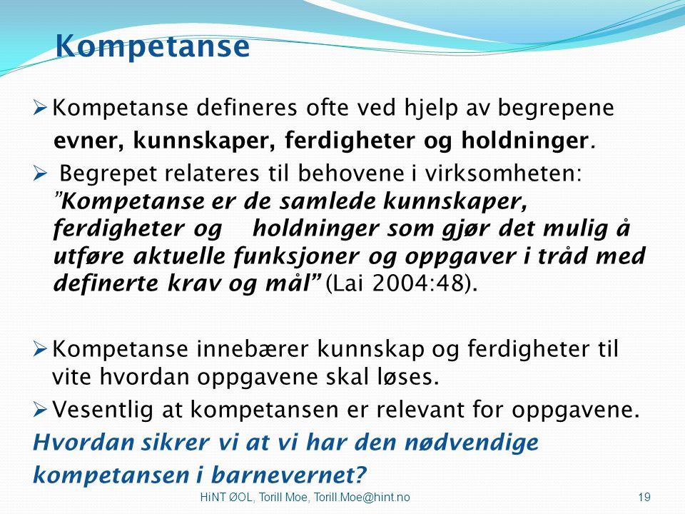 Utvikling av tverrfaglig samarbeid sammen med barn/unge og familier HiNT ØOL, Torill Moe, Torill.Moe@hint.no18 Inkludering av barn, unge og familier i