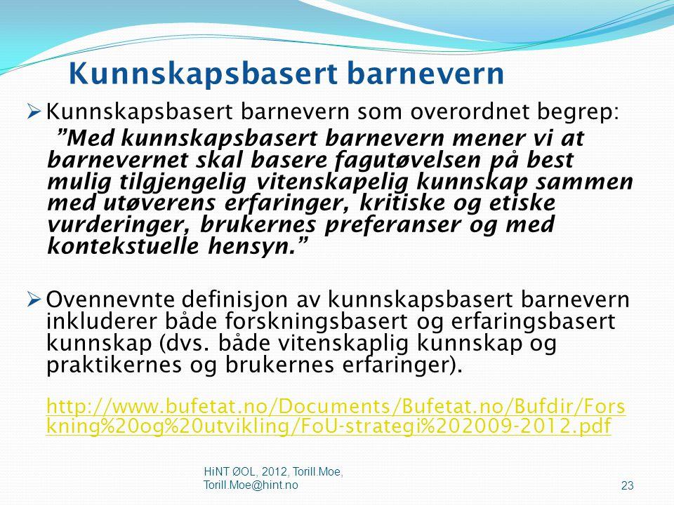  NOU 2009:08 anbefaler også at det etter hvert stilles krav om mastergradseksamen for utøvelse av enkelte ansvars- og arbeidsområder i barnevernet. D