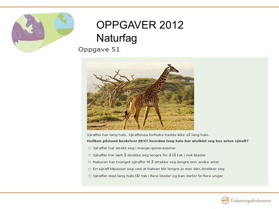 OPPGAVER 2012 Naturfag
