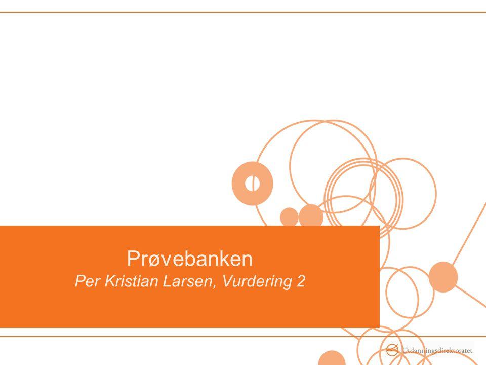 Prøvebanken Per Kristian Larsen, Vurdering 2