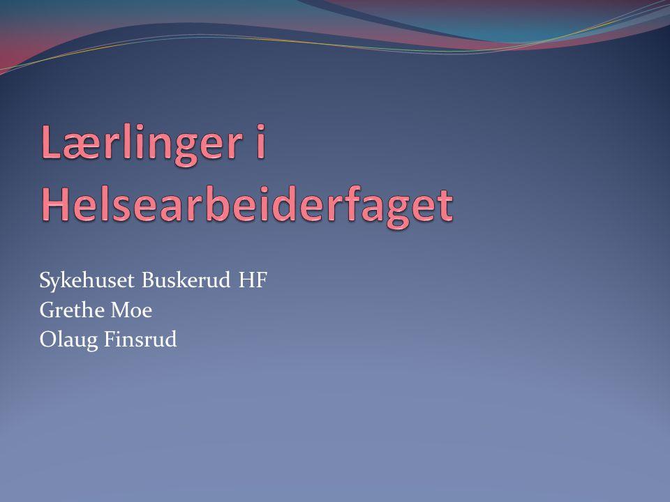 Sykehuset Buskerud HF Grethe Moe Olaug Finsrud