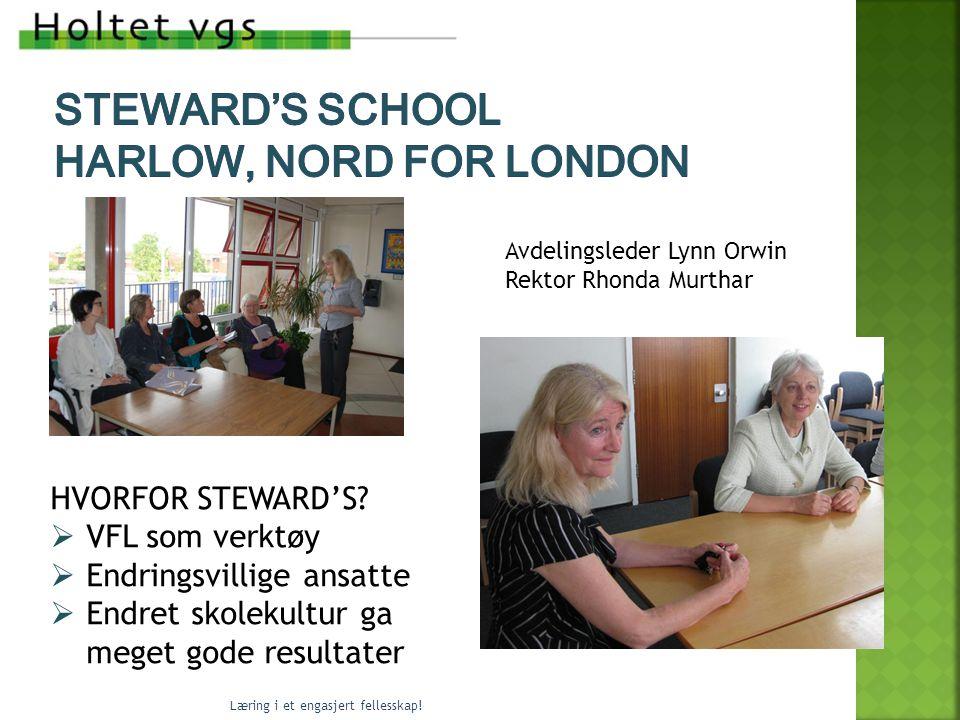 Avdelingsleder Lynn Orwin Rektor Rhonda Murthar HVORFOR STEWARD'S.
