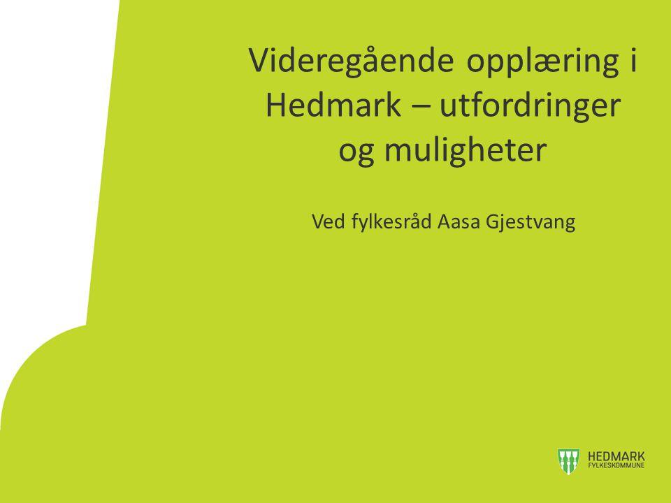 Videregående opplæring i Hedmark – utfordringer og muligheter Ved fylkesråd Aasa Gjestvang