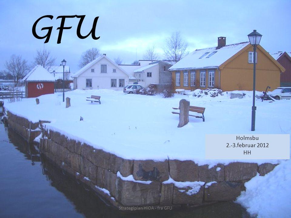 GFU Holmsbu 2.-3.februar 2012 HH Strategiplan HiOA - fra GFU