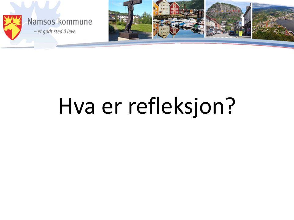 Hva er refleksjon?
